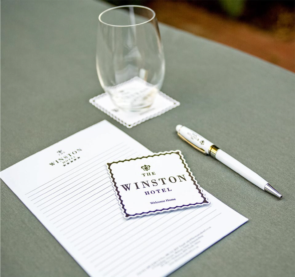 The Winston Hotel stationery
