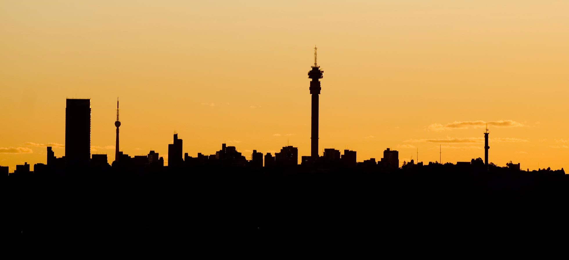 The winston hotel five star big 5 attractions in and around joburg city joburg city skyline at sunset thecheapjerseys Images