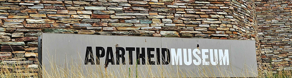 Apartheid Museum sign outside